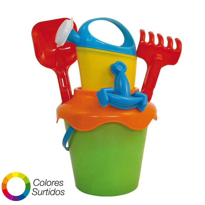 Beach Bucket With Watering Can, Shovel And Rake