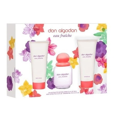 DON ALGODON EAU FRAICHE EDT 100ML + BODY 75ML + 75ML GEL
