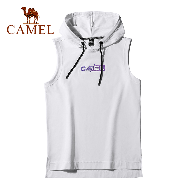 CAMEL Outdoor Hiking Sports Men's T-shirt Man Sleeveless Vest Male Hoodie Men Upper Outer Garment Breathable Clothes