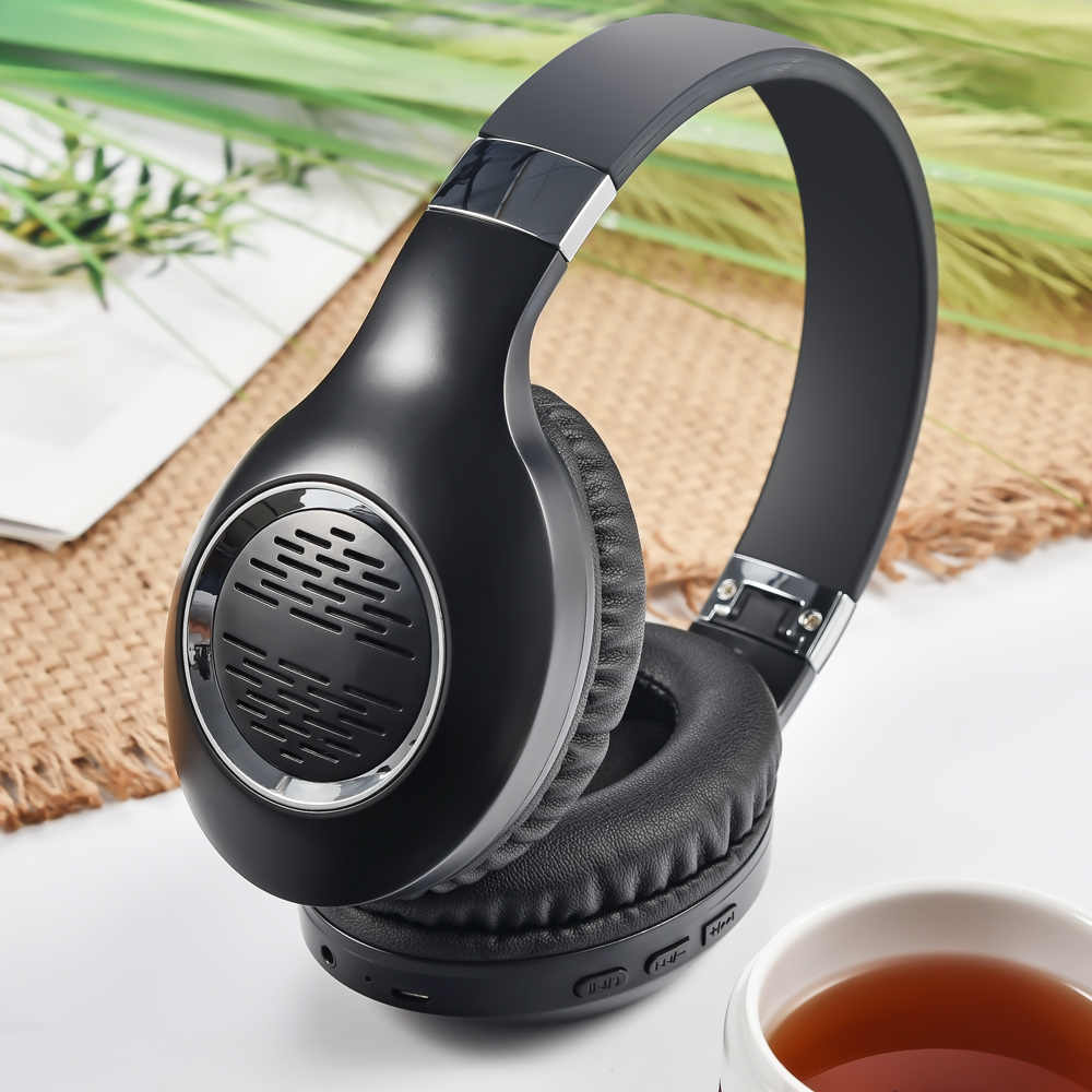 Benar Aktif Noise Cancelling ANC Headphone Bluetooth Earphone Wireless Headphone Mendukung Koneksi Kabel Hi Fi Stereo dengan MIC