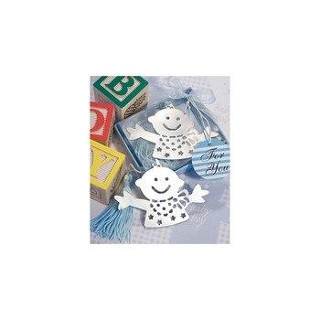 Simpático Punto de Libro bebé Azul Bautizos Niños - Detalles de recuerdos...