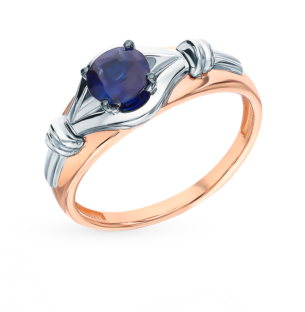 Gold Ring With Sapphires SUNLIGHT Test 585