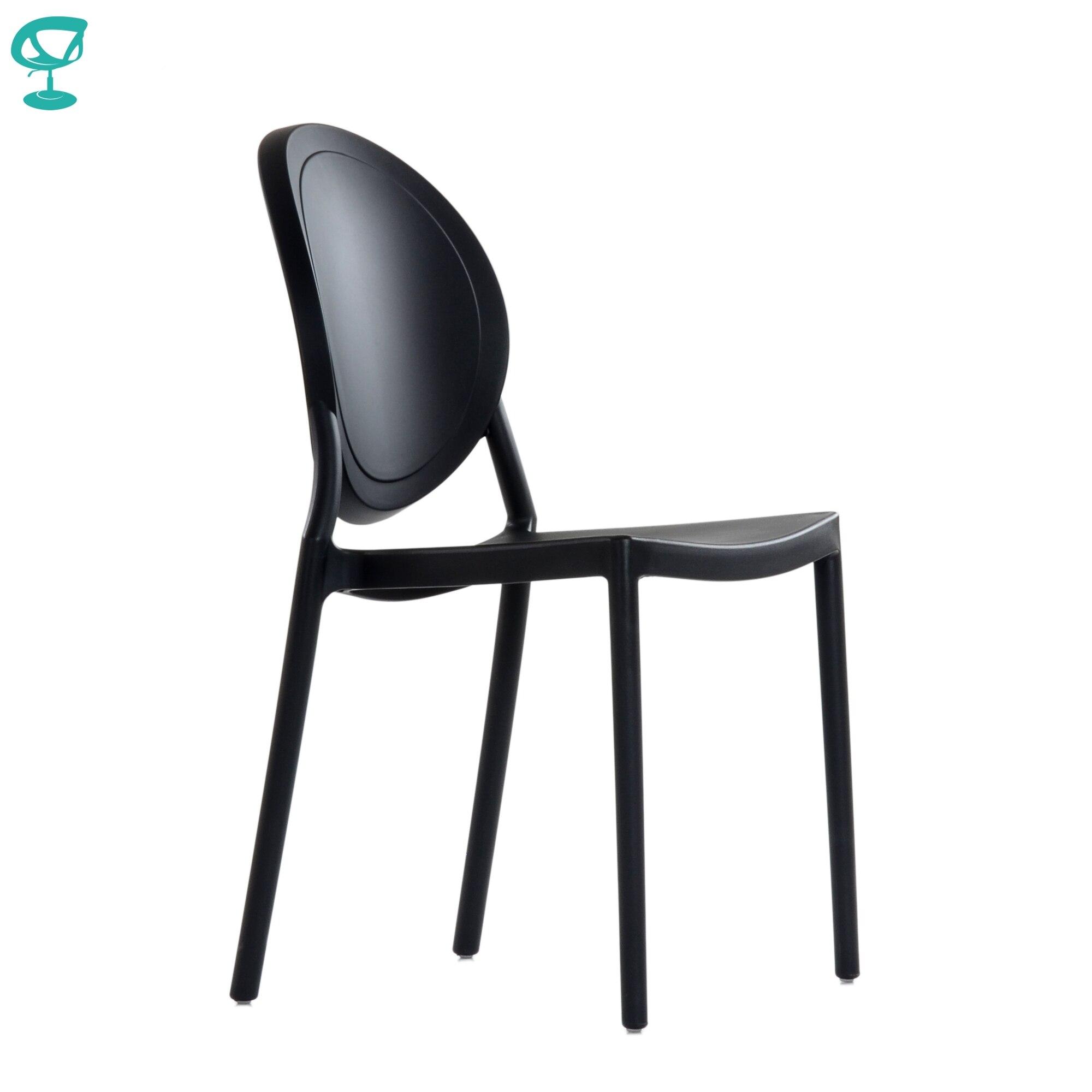95715 Barneo N-217 en plastique cuisine intérieur tabouret chaise pour une rue café chaise meubles de cuisine noir livraison gratuite en russie