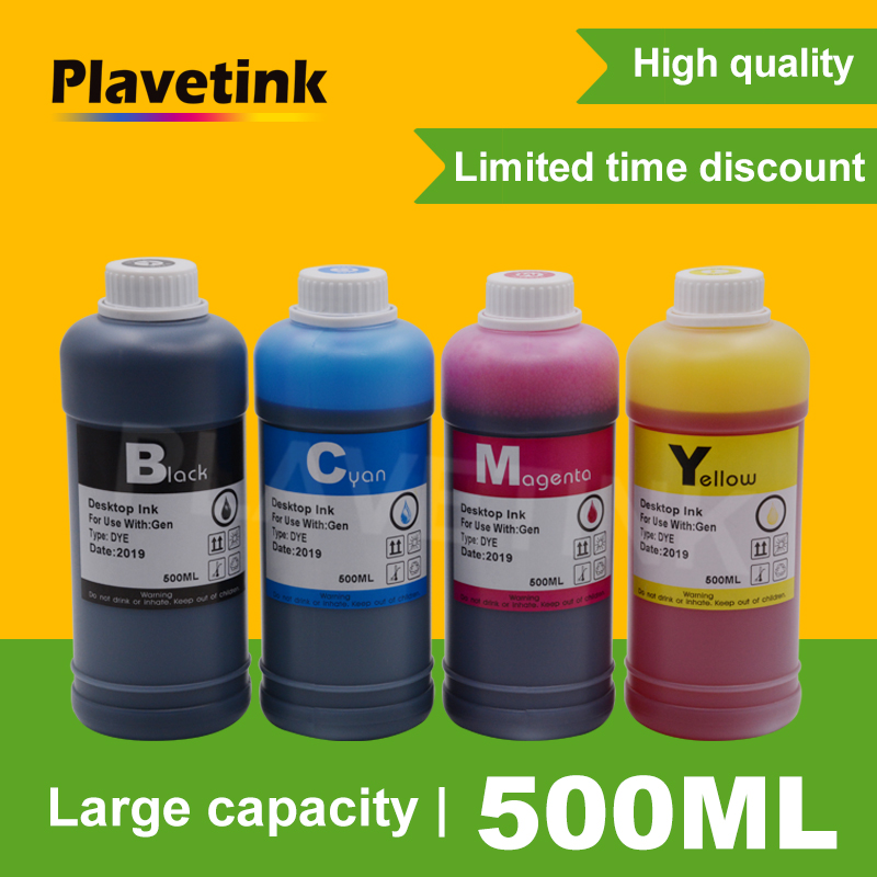 Plavetink 500ml Bottle Printer Ink <font><b>Refill</b></font> <font><b>Kits</b></font> For <font><b>HP</b></font> 123 122 121 302 304 301 300 650 <font><b>652</b></font> 21 22 140 141 901 350 351 XL Cartridge image