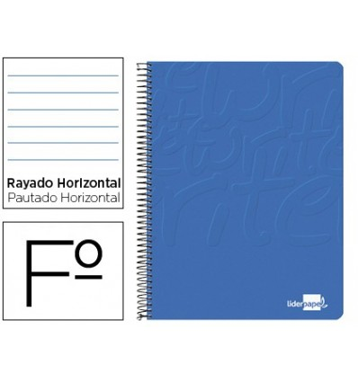 SPIRAL NOTEBOOK LEADERPAPER FOLIO WRITE SOFTCOVER 80H 60GR HORIZONTAL MARGIN BLUE COLOR 10 PCs