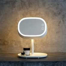 Modern Innovative USB Charging LED Makeup Mirror Light Storage  Night Lamp Desk Free Shipping