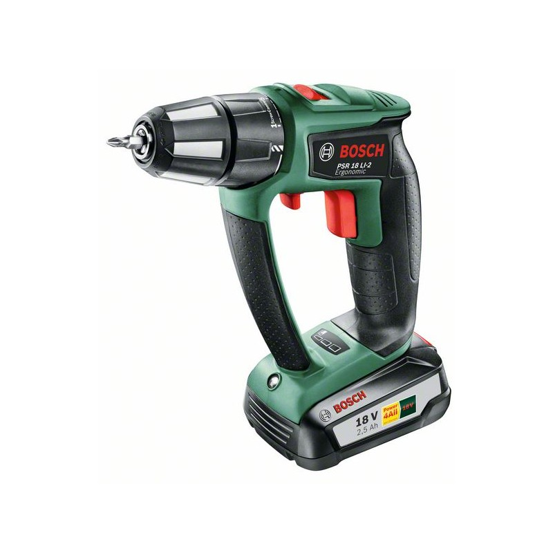 <font><b>BOSCH</b></font>-drill Screwdriver <font><b>battery</b></font> <font><b>PSR</b></font> <font><b>18</b></font> LI-2 ergonomic image