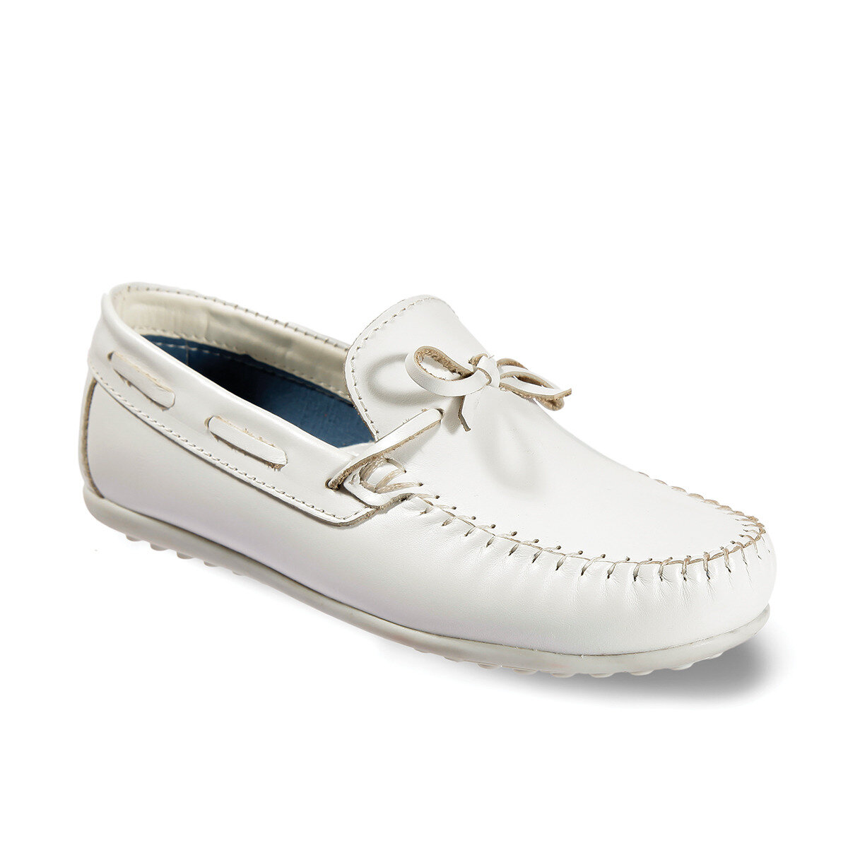 FLO 908. U.493 FILET LEATHER White Male Child Loafer Shoes VICCO