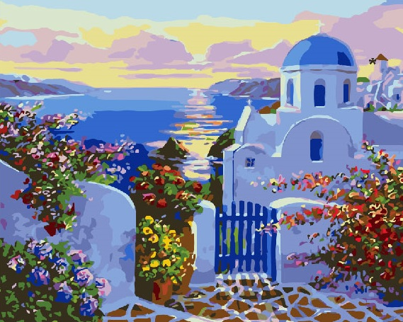 Painting By Numbers GX 26673 Paradise By The Sea Itself 40*50