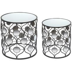 Zestaw 2 małych stołów żelaznych (49X49x54 cm) na