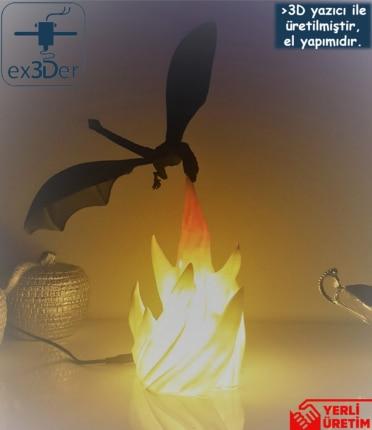 Decorative Flame Dragon Desktop Lamp 1