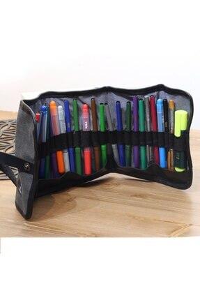 1 Piece 29 Slot Canvas Pencil Roll Up Case Pen Wrap Case Pouch Organizer Holder Charcoal Rolling Pouch for Painter artist