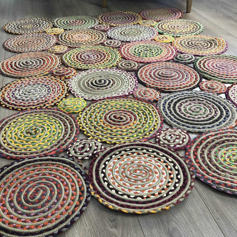 Else Round Jute Carpet Sisal Natural