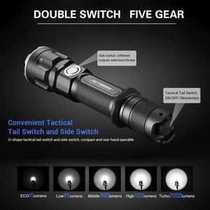 Image 4 - JETBeam IIIMR 2000LM גבוהה כוח LED צבאי משטרת פנס USB נטענת טקטי משטרת פנס לפיד