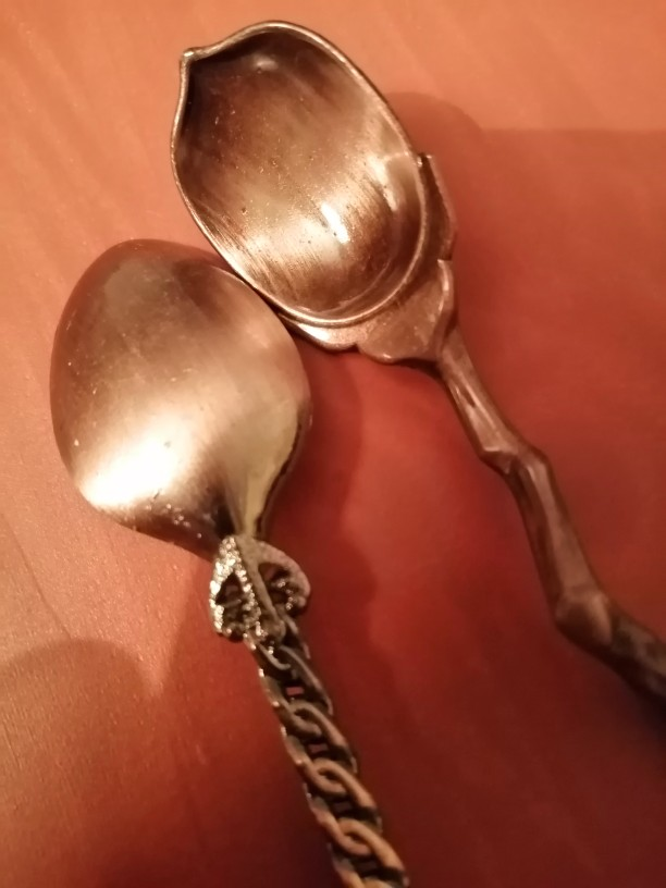 Antique Kitchen Metal Spoons