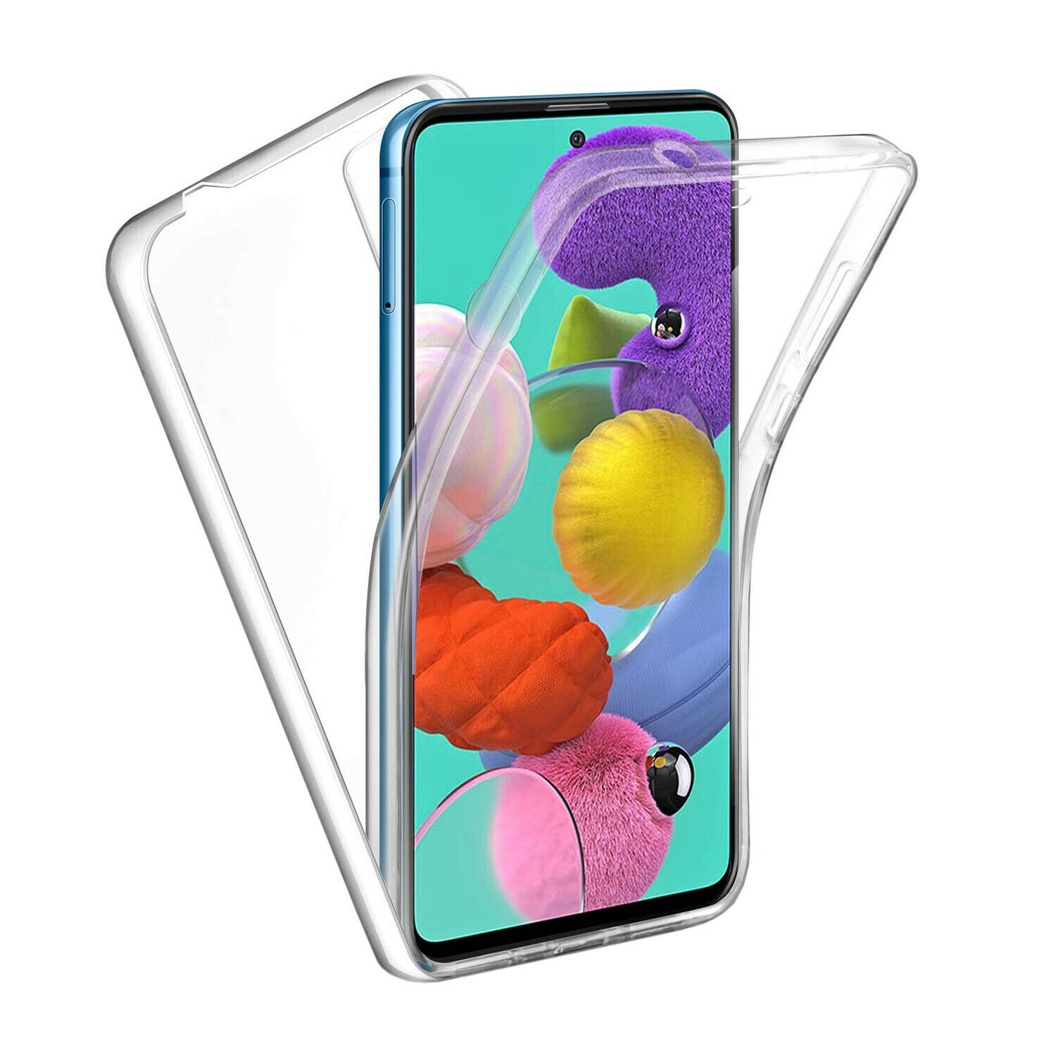 Stand Case Double 360 ° For SAMSUNG GALAXY A71 Front + Back Clear