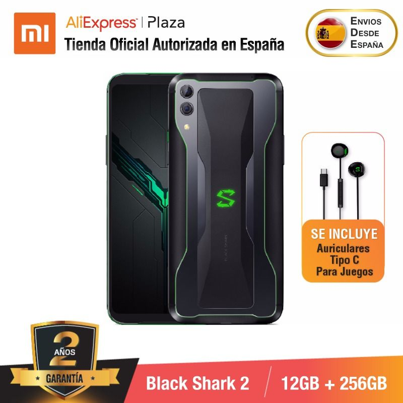 [Global Version for Spain] Xiaomi Black Shark 2 (Memoria interna de 256GB, RAM de 12GB, Camara dual de 48MP+12MP)