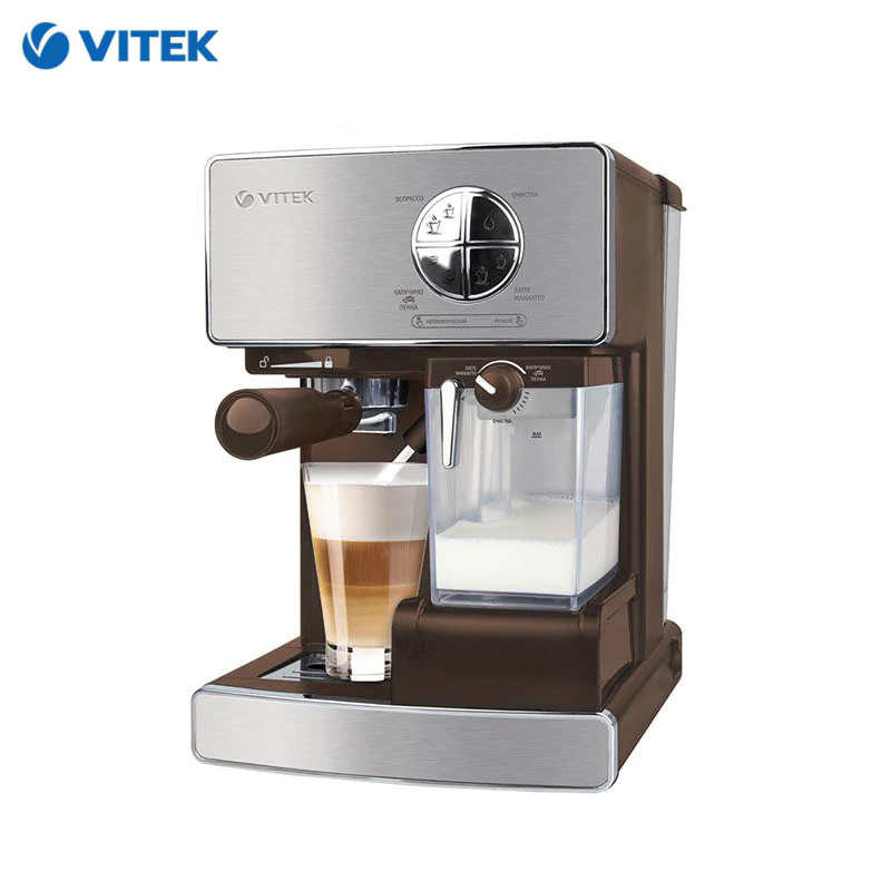 Coffeemaker Vitek VT-1516 Horn Capuchinator Coffee Maker Household Appliances For Kitchen