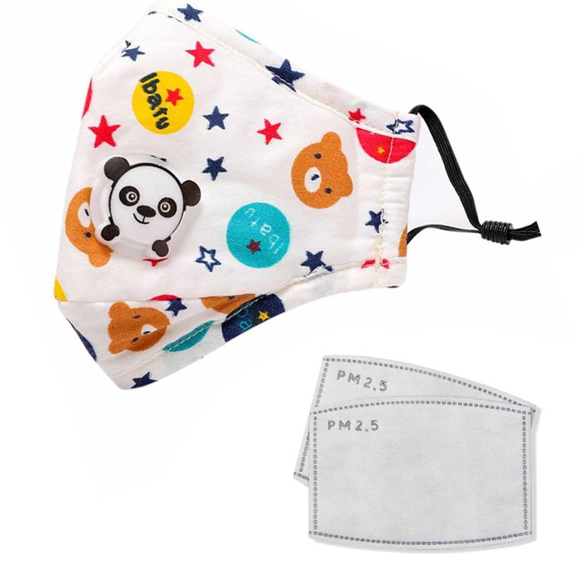 PM2.5 Washable Mouth Mask With Valve Kids Children Anti Haze Dust Mask Nose Filter Face Muffle Bacteria Flu Respirator 4