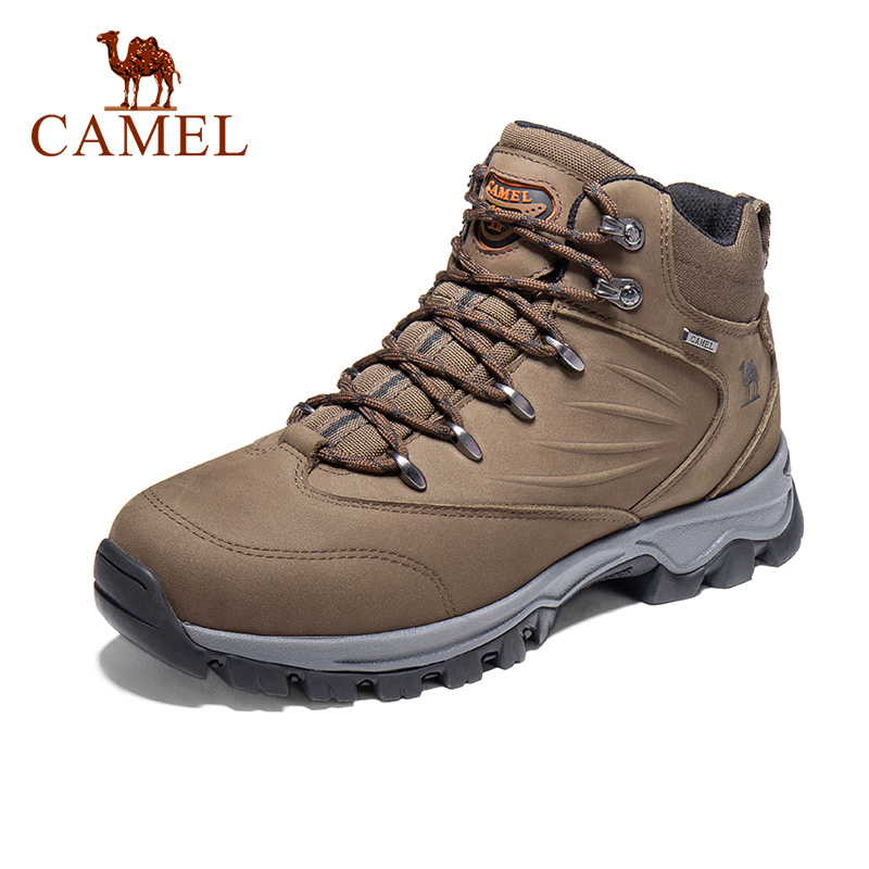CAMEL Outdoor High-Top Leder Wandern Schuhe Für Männer Wasserdichte Gleitschutz Atmungs Mountain Klettern Trekking Stiefel