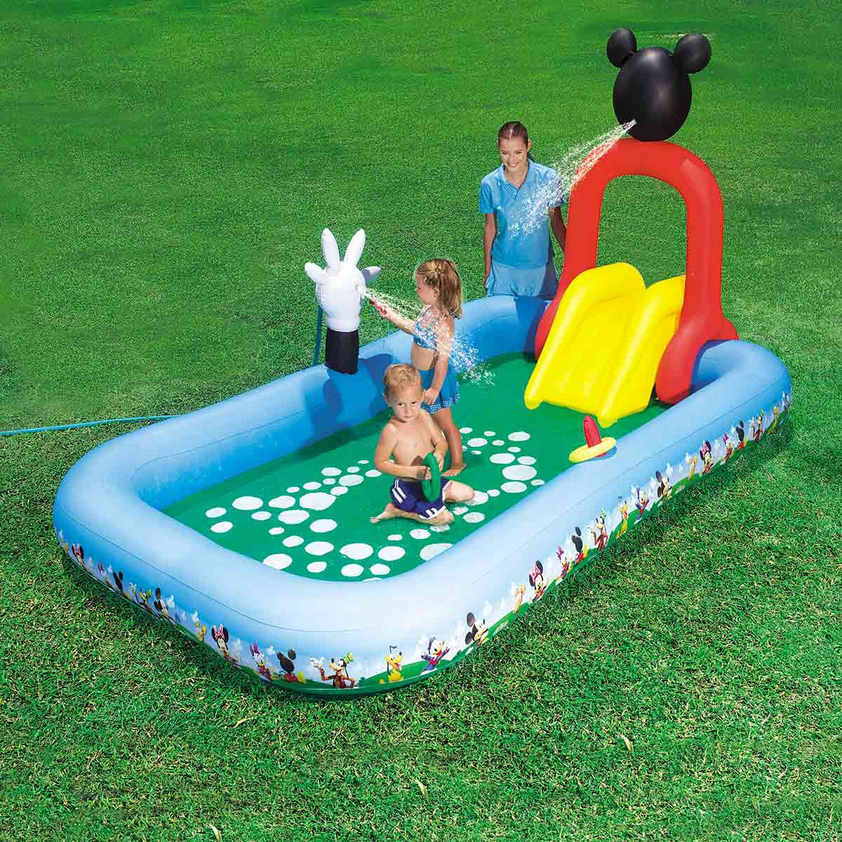 Bestway Inflatable Pool For Children With Slide The House Of Mickey-91016
