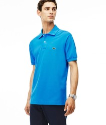 Pole LACOSTE L.12.12 BASIC for men short sleeve blue color