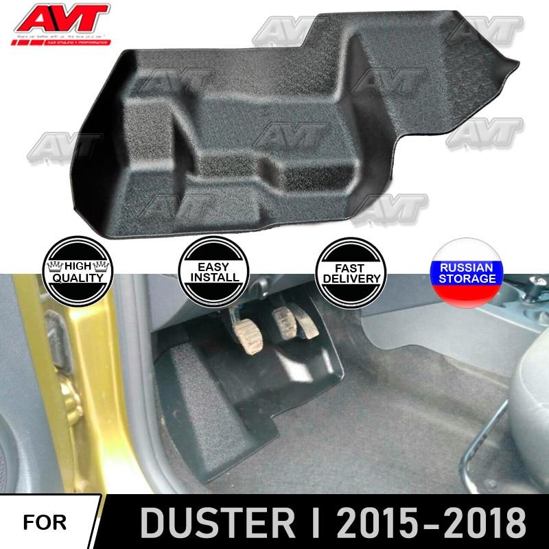 Cubierta protectora de la alfombra debajo del montaje del pedal para la cubierta interior de la decoración del estilo del coche de protector antipolvo para Renault 2015-2018