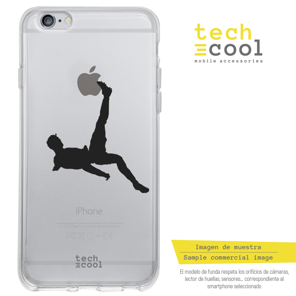 FunnyTech®BQ Aquaris U2 / U2 Lite l design CR7 Chilean transparent Iphone version image