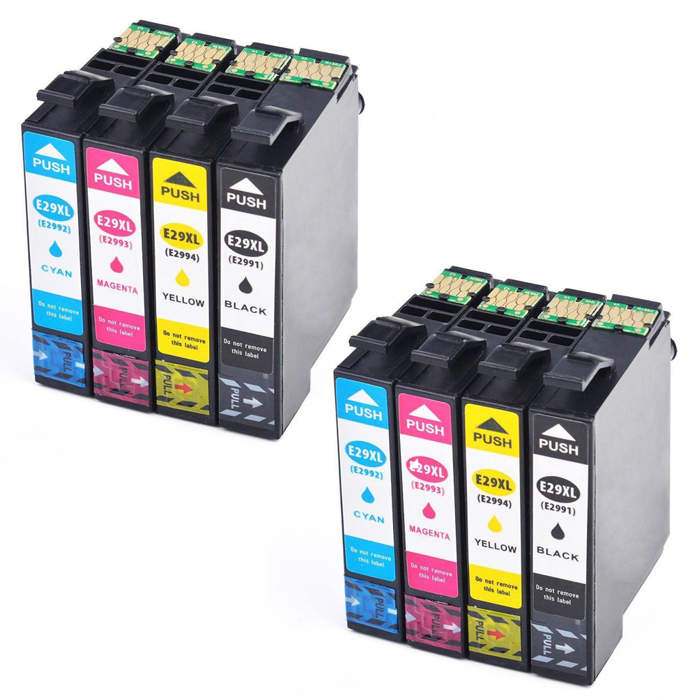 8 Cartriges T29XL T 29 XL T2991 T 2991 2992 2993 2994 Refill Compatible For Printer Model Epson XP235