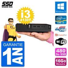 Ultra Mini PC Dell 3020 Micro USFF i3-4130T RAM 16Go SSD 480Go Windows 10 Wifi