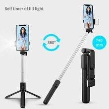 Roreta New wireless Selfie tripod monopod With Selfie Stick Bluetooth shutter Fill light For iphone smartphone