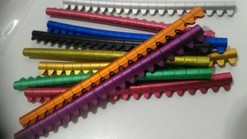 Colorful open aluminum rings 2.5 MM