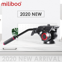 miliboo 801II Fluid Video Head with Quick Release Plate for DSLR Camera Tripod Monopod Panoramic Hydraulic Head Up to 10kg