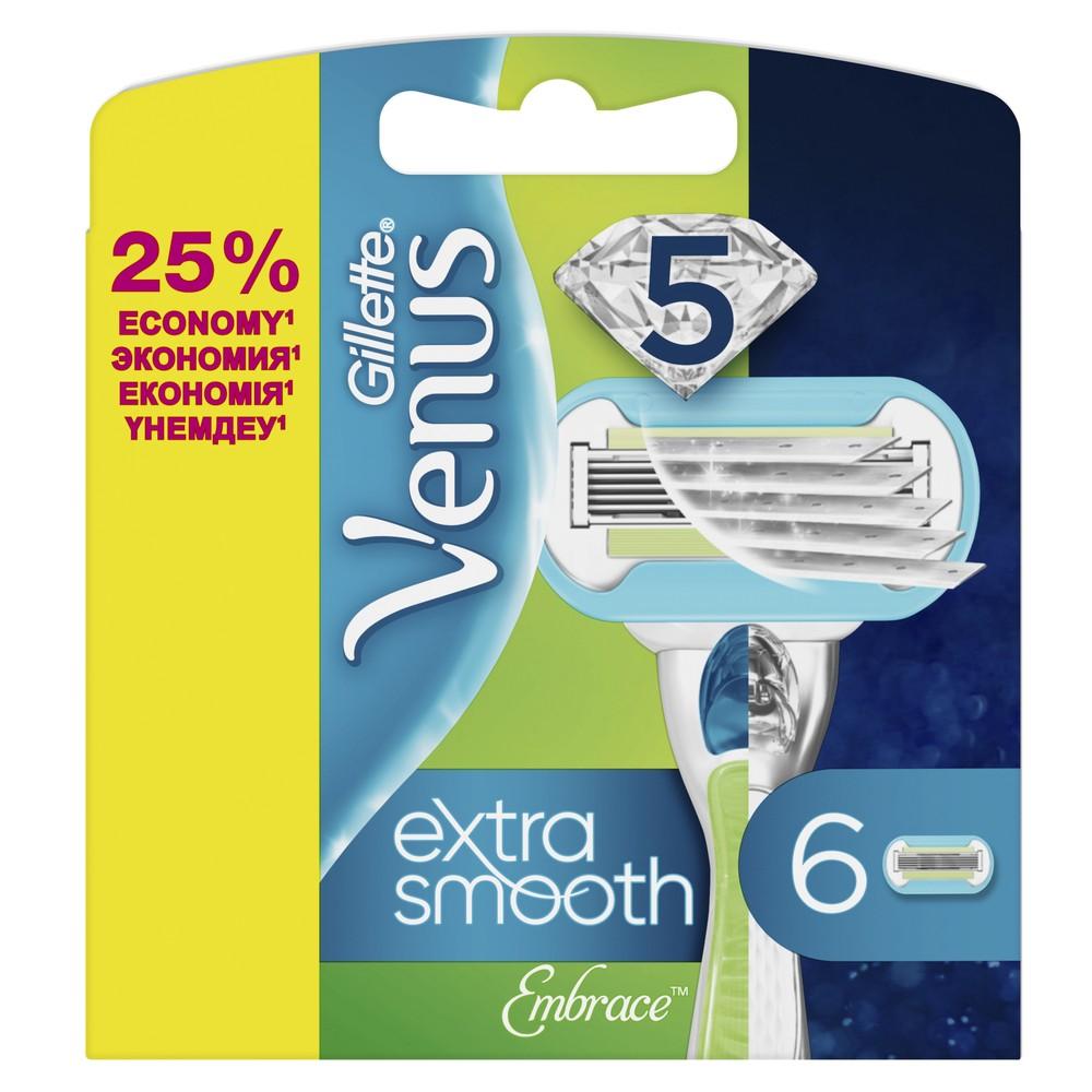 Replaceable cartridges for the Gillette Venus Embrace razor, 6 pieces.