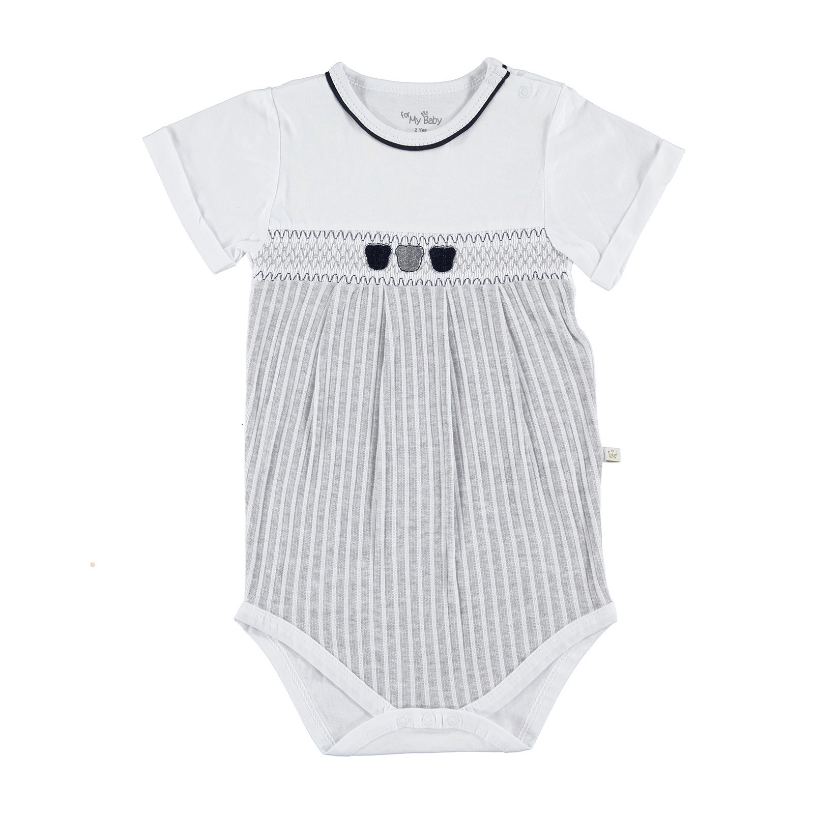 Ebebek For My Baby Boy Rhythm Polo NeckBoy Bodysuit