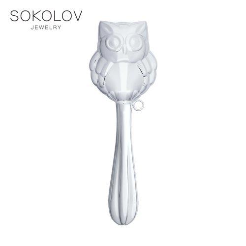"""Rattle """"owl"""" Sokolov, Fashion Jewelry, Silver, 925, Women's/men's, Male/female"""