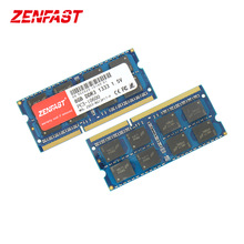 Zenfast ddr3 4gb 8gb 1333mhz 1600mhz SO-DIMM 1.5v memória do portátil da ram 204pin sodimm do caderno para amd