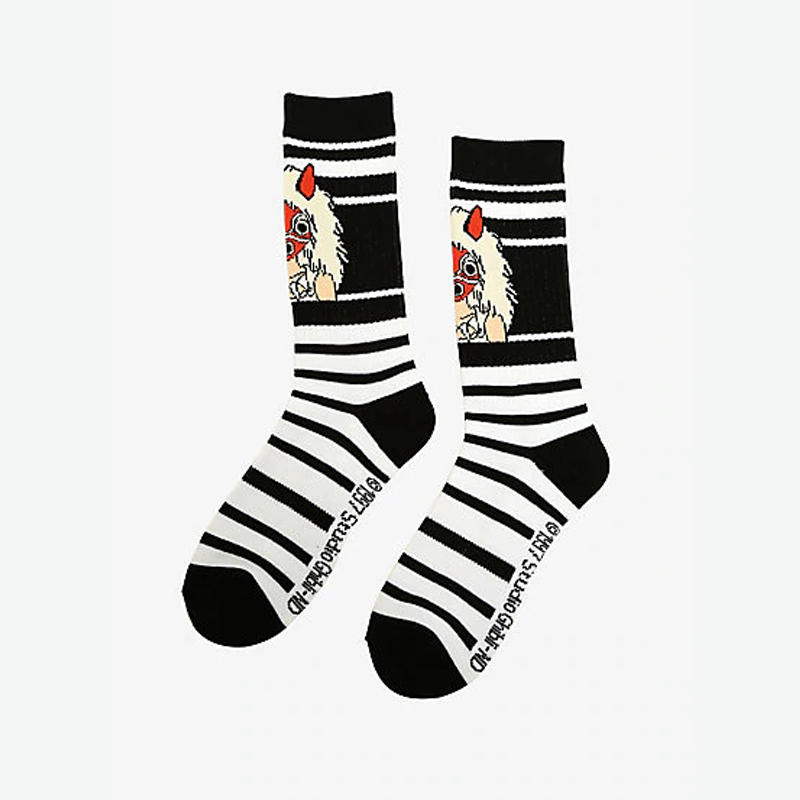 Studio Ghibli Princess Mononoke Striped Crew Socks