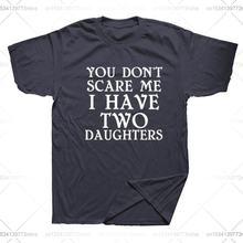 Забавная Мужская футболка с надписью «you can't scare me»