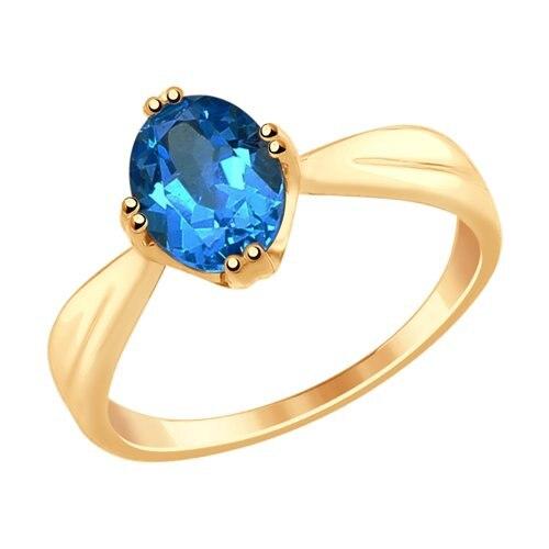 SOKOLOV Ring Gold With Blue Topaz