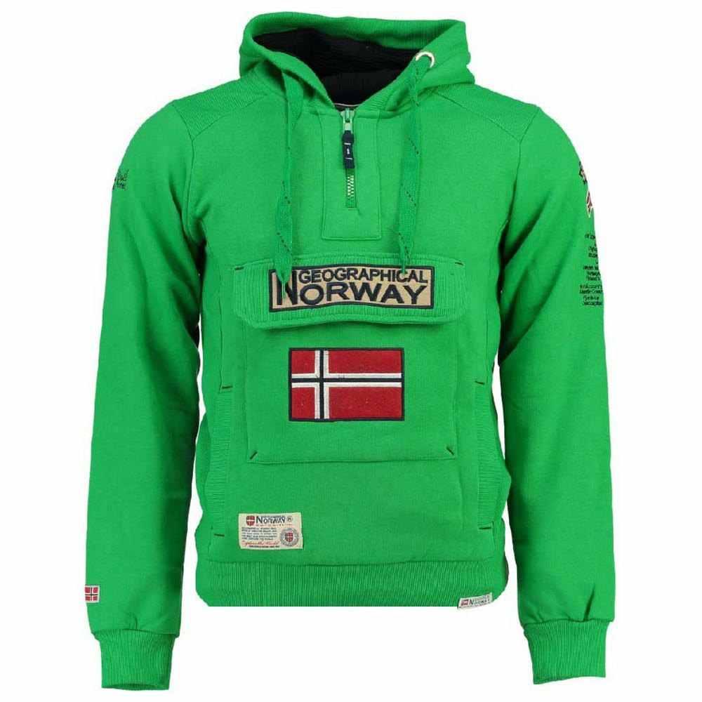 Felpa GEOGRAPHICAL NORWAY Uomo Men Fleece Full Zip Anapurna cappuccio Fambro