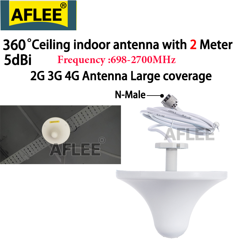 2G 3G 4G LTE Omni Antenna Celling Internal Antenna For Cell Phone Signal GSM Booster 3G 4G Repeater With 0.3M/2M/3Meter Cable