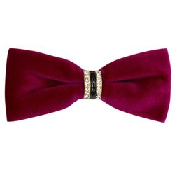 Bow tie for men (velor, fuchsia) 53709