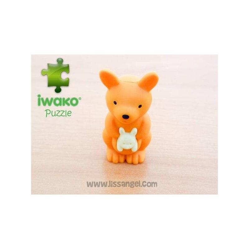 Puzzle IWAKO Eraser - Kangaroo