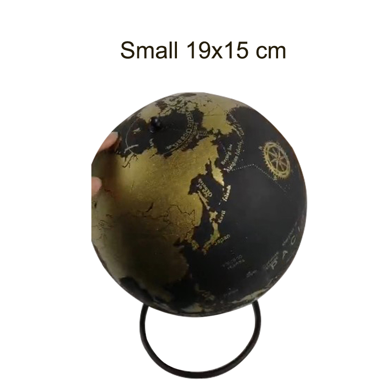 Small Golden Cork Wood Tellurion Golden Globes Marble Maps Home Office Decoration World Map Inflatable Training Geography Map