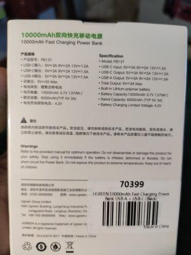 Ugreen Power Bank 10000mAh Portable External Battery Charger Quick Charge 4.0 3.0 Poverbank for Xiaomi Mi iPhone 11 PD Powerbank|Power Bank|   - AliExpress
