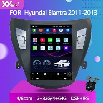 Android 10 Tesla style car gps radio navigation player for Hyundai Elantra 2012 MD Avante 2011 2013 2din