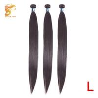 AOSUN HAIR 8 26 Straight Hair Bundles Brazilian Hair Weave Bundles Get Free Closure 100% Remy Human Hair Extension Natural Color
