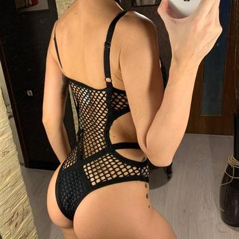 XS-5XL Black Net Mesh Sexy Plus Large Size Women Swimwear One Piece Swimsuit Female Bather Bathing Suit Swim Beach Monokini V536 4