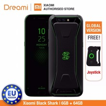 Globale Version Xiaomi Schwarz Shark 64GB ROM 6GB RAM GamingPhone (Offizielle Rom) Blackshark,Snapdragon845, adreno630 Teléfono Mobile
